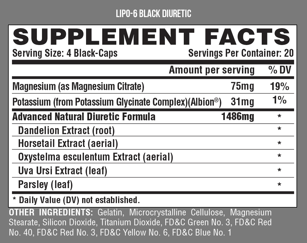 Nutrex: Lipo-6 Black Diuretic – Alpha Fitness Supplements