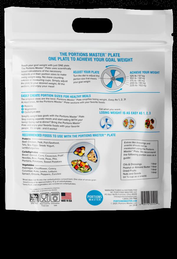 Portion Plate Back
